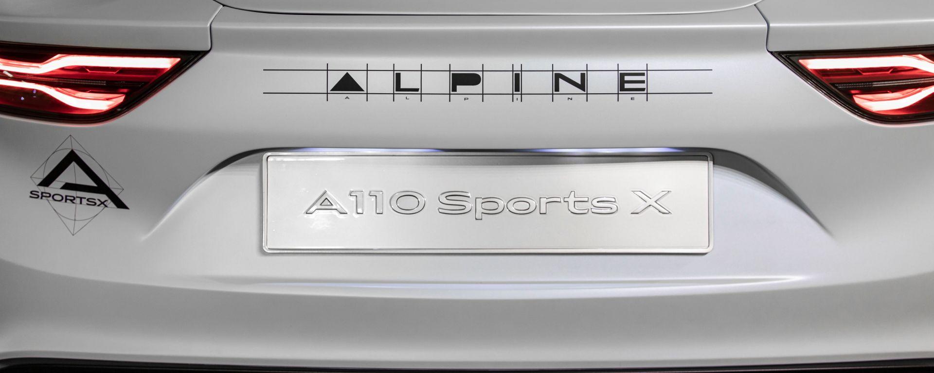 Alpine A110 SportsX, dettaglio posteriore