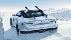 Alpine A110 SportsX, un bozzetto