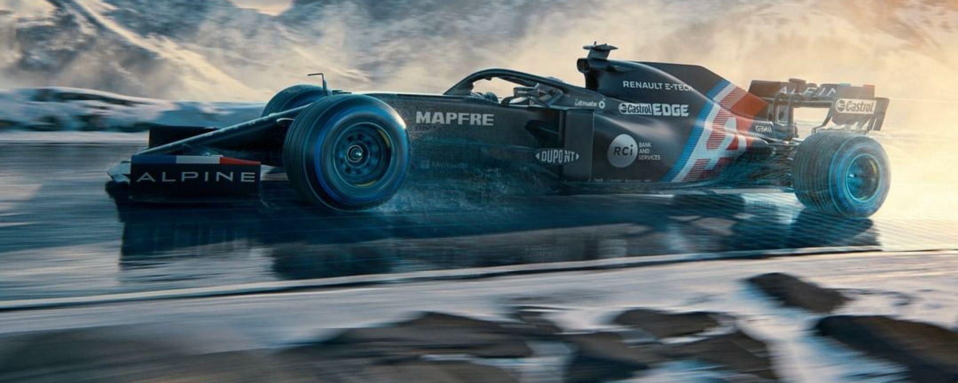 Alpine F1, la livrea provvisoria della monoposto 2021