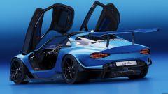 Alpine GTA by Arseny Kostromin: di 3/4 posteriore, a porte aperte