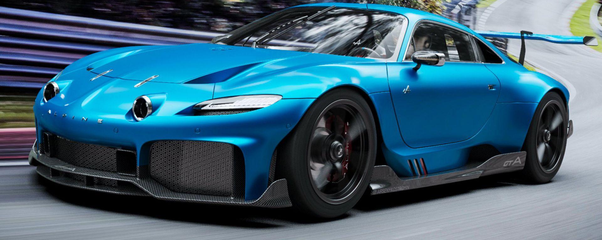 Alpine GTA: il pazzesco rendering in video e ampia fotogallery