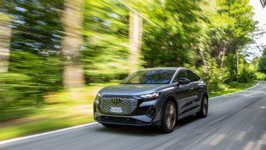 Ambizioni green per l'Audi Q4 e-tron Sportback elettrica