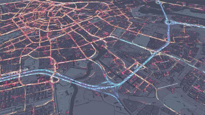 Amsterdam vista dai dispositivi attivi in ogni istante