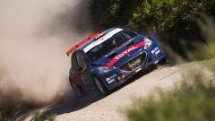 Anche Carlos Sainz era presente al Rally del Portogallo con la Peugeot 208 T16