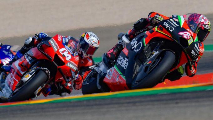 Andrea Dovizioso (Ducati), Aleix Espargaro (Aprilia)