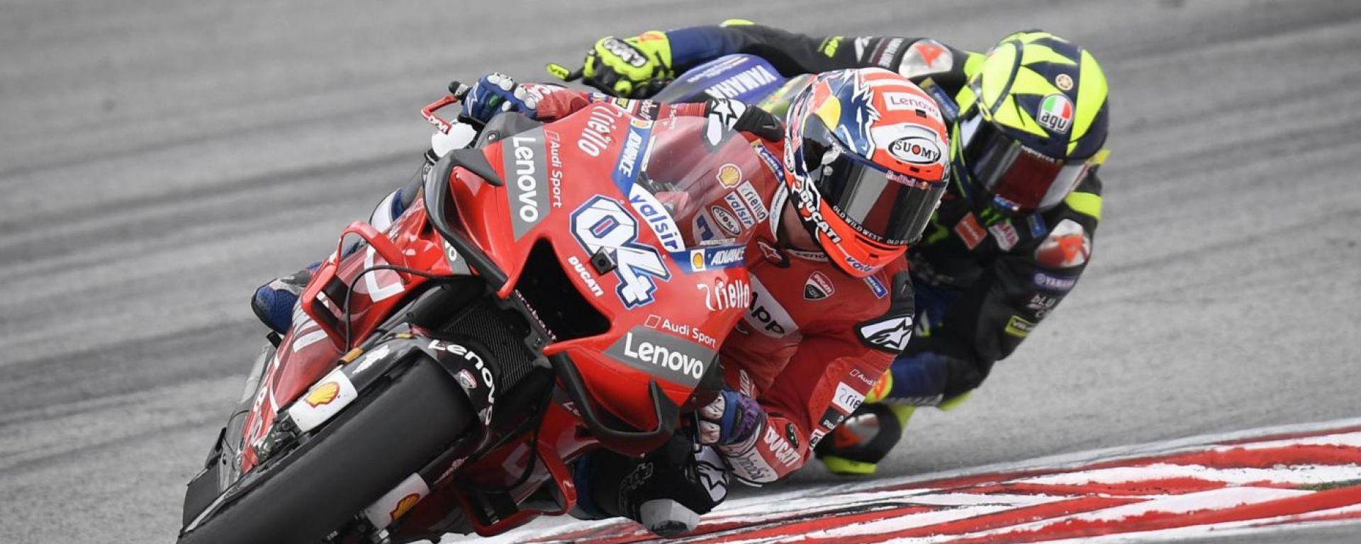 Andrea Dovizioso (Ducati) e Valentino Rossi (Yamaha), 2019