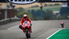 Andrea Dovizioso (Ducati Team) in pista al Sachsenring