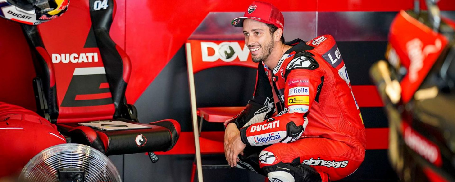 Andrea Dovizioso nel 2020 con Ducati