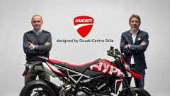 Andrea Ferraresi (Direttore del Centro stile Ducati) e Francesco Milicia (a capo delle Global Sales di Ducati) posano di fianco