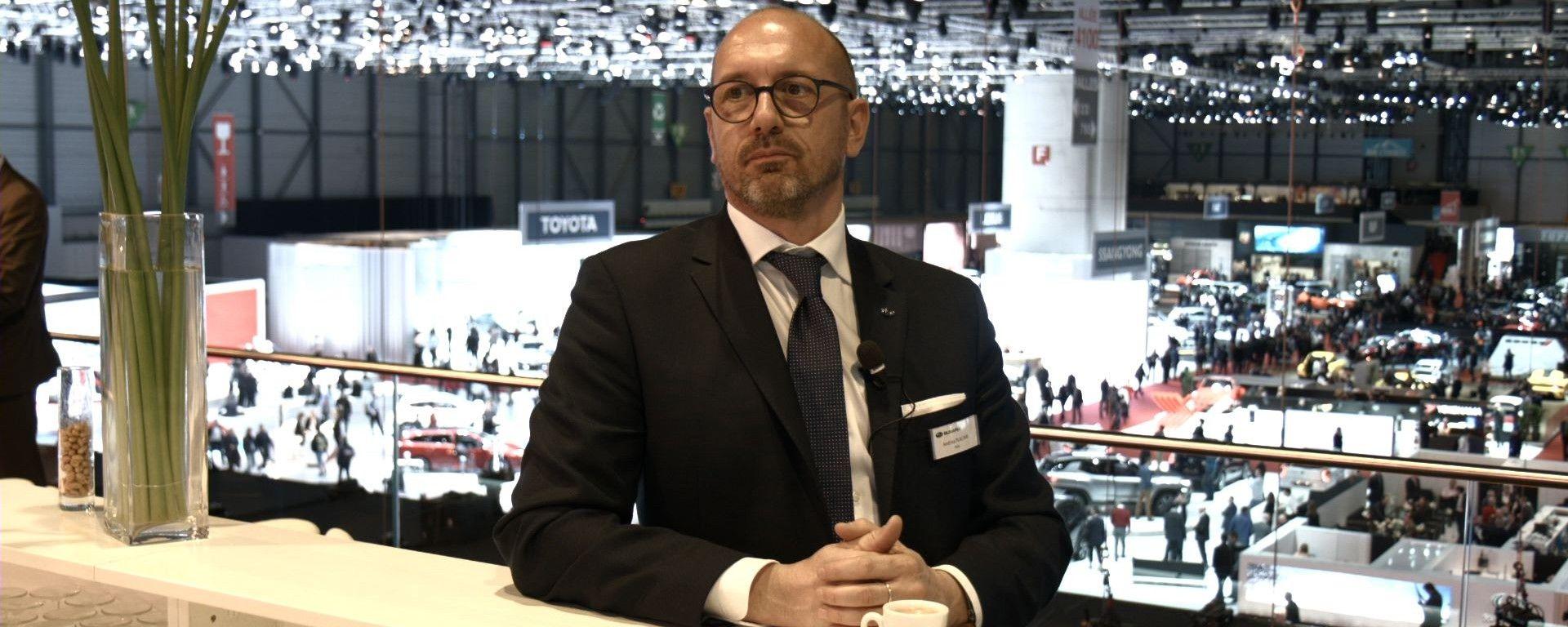 Andrea Placani, Responsabile Comunicazione Subaru Italia, al Salone di Ginevra 2017