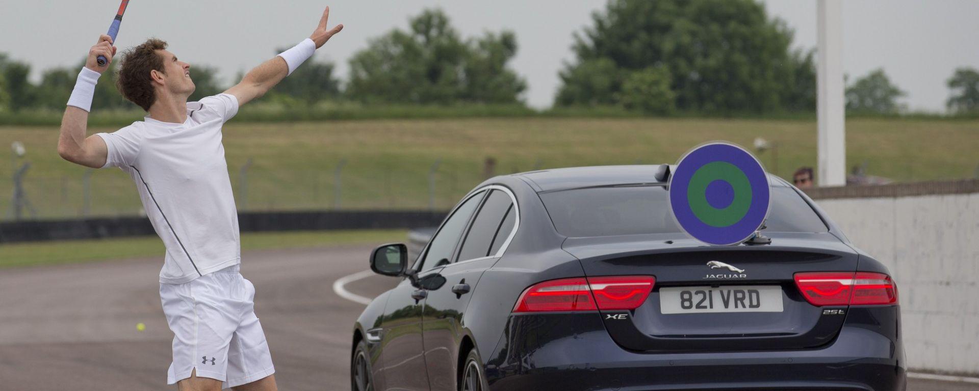 Andy Murray vs Jaguar: si batte a 160 miglia orarie
