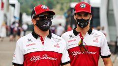 Antonio Giovinazzi e Kimi Raikkonen (Alfa Romeo Racing)