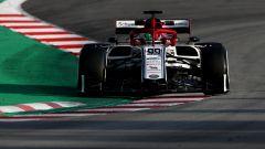 Antonio Giovinazzi nei test F1 di Barcellona 2019