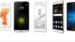 Apple iPhone 6S vs LG G5 vs Sony Xperia Z5 vs Huawei P9 vs Microsoft Lumia 950