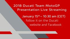 Appuntamento al 15 gennaio 2018 per la presentazione del Ducati Team