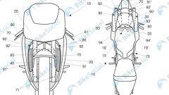 Aprilia: i nuovi condotti dell'aria arrivano fino alla ruota anteriore per pescare l'aria indisturbati (rispetto al radiatore)