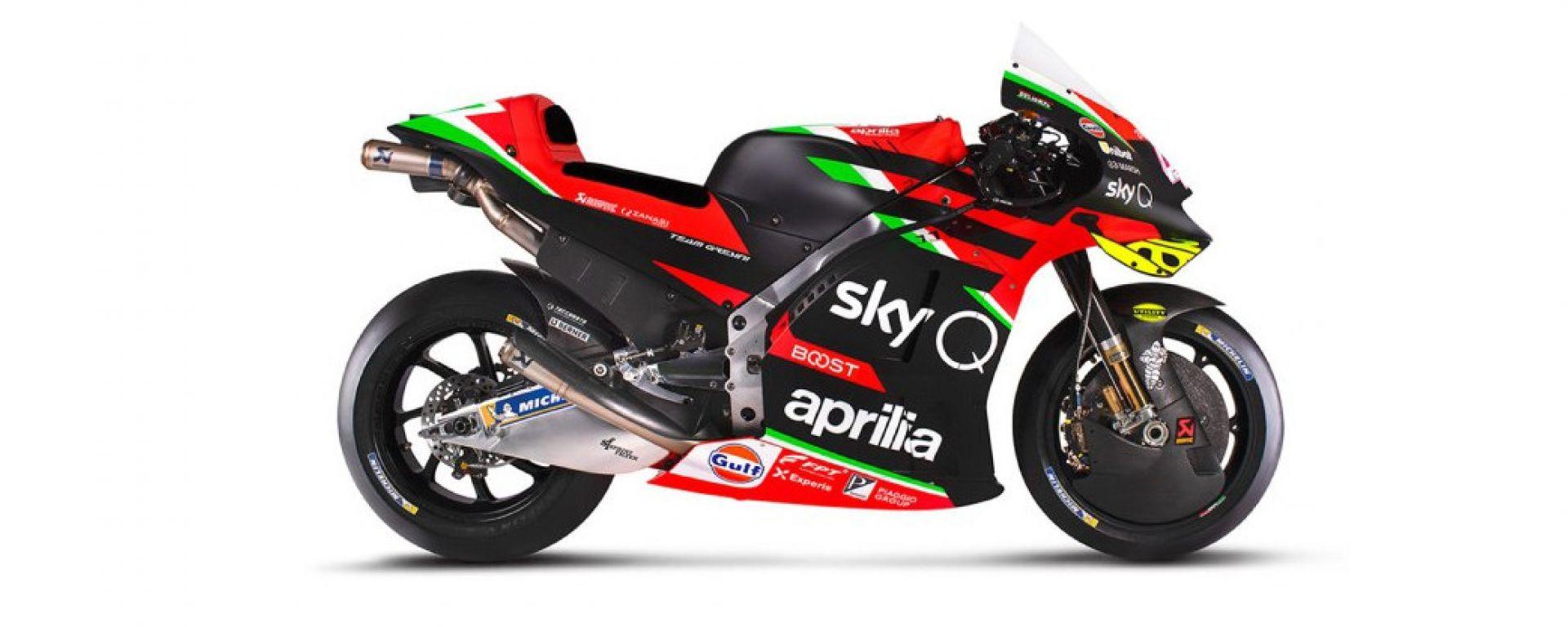 MotoGP 2020: Aprilia toglie i veli alla RS-GP