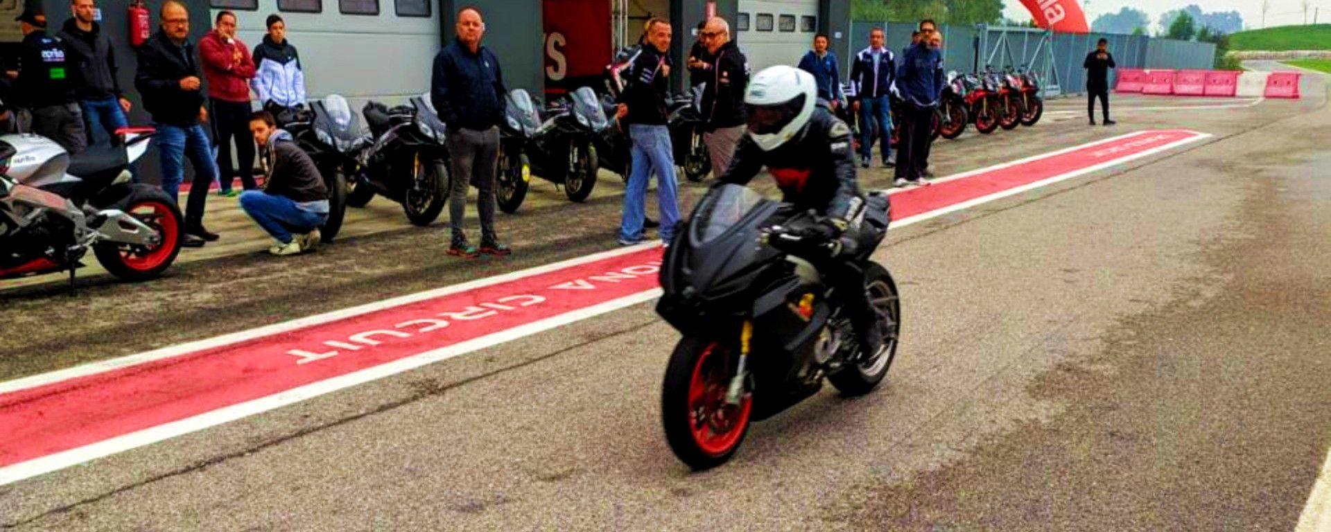 Aprilia RS 660: beccata in pista a Cremona
