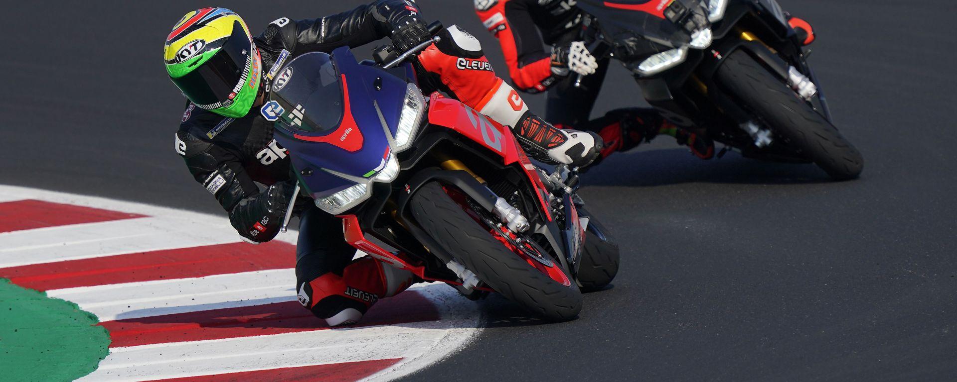 I piloti Aprilia MotoGP provano la RS 660 a Misano: ecco come è andata