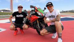 Aprilia RSV4 RF Limited Edition tra i piloti della MotoGP Aleix Espargaró e Scott Redding