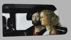 Art al parabrise di Guido Palmero: omaggio a Botticelli e a Raffaello
