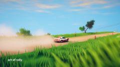 art of rally: schermata di gioco
