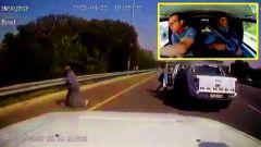 Assalto al portavalori: il video POV dalla dashcam