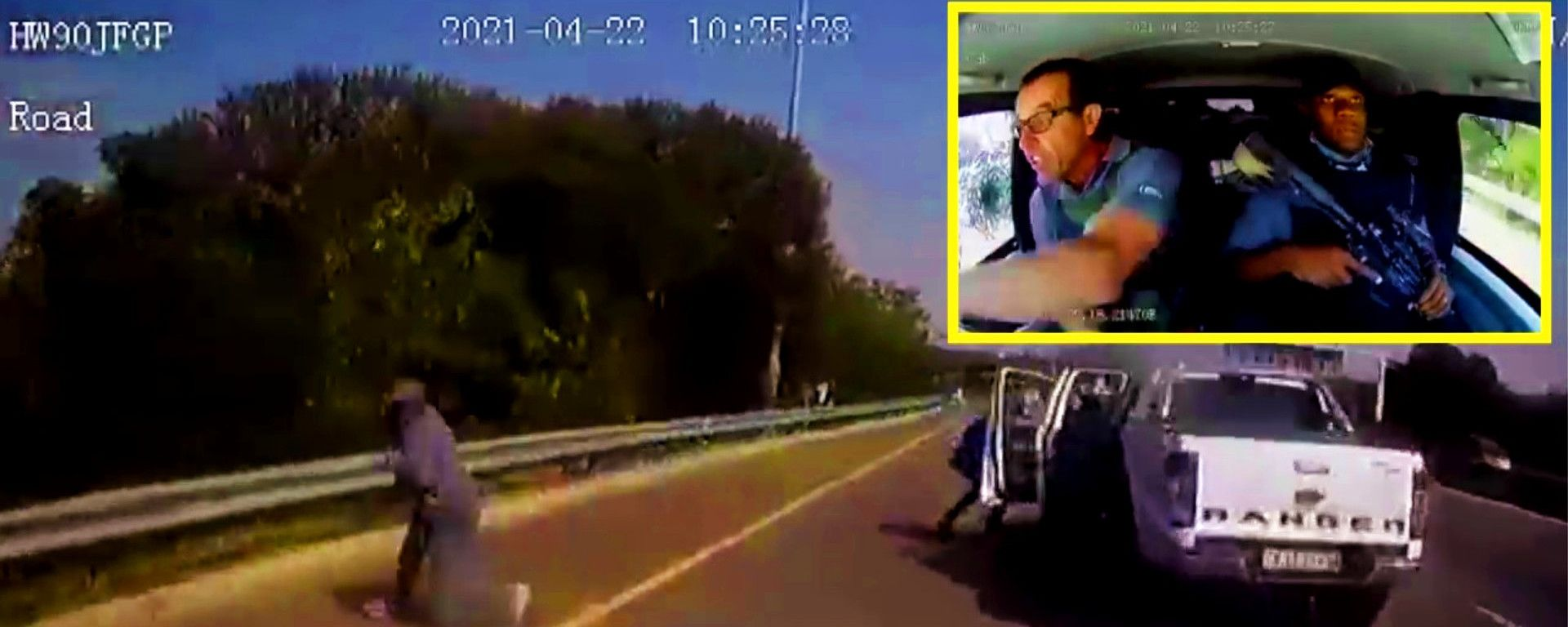 Assalto al portavalori in Sud Africa: il video POV della dashcam della Toyota Land Cruiser