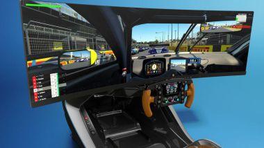 Aston Martin AMR-C01, la postazione di guida