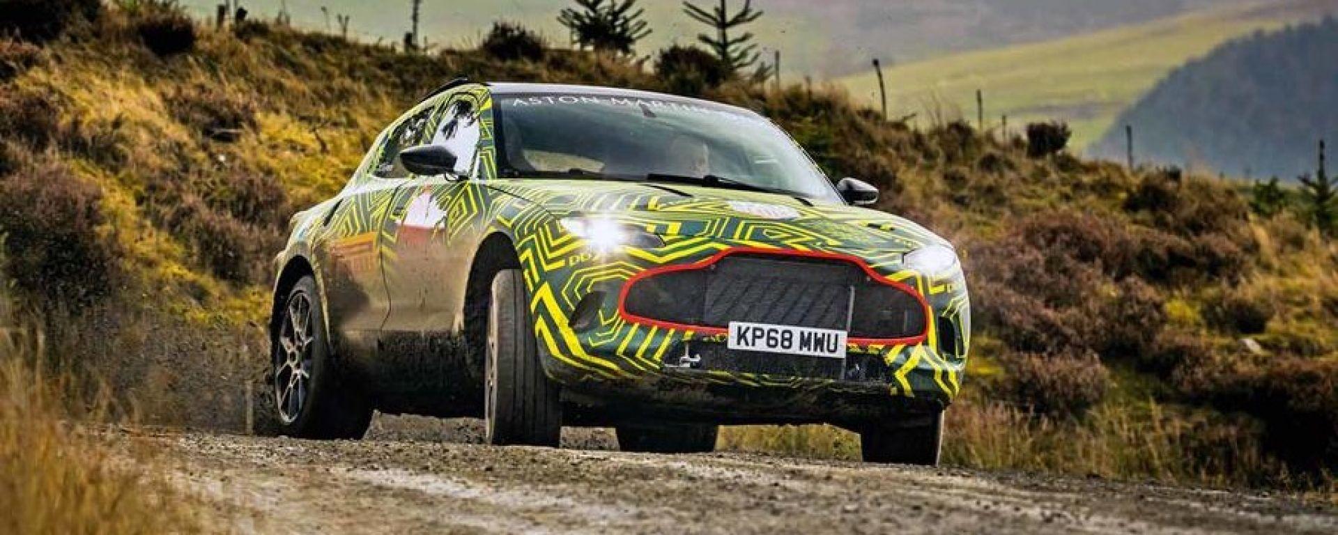 Aston Martin DBX: i test su strada prima del lancio nel 2019