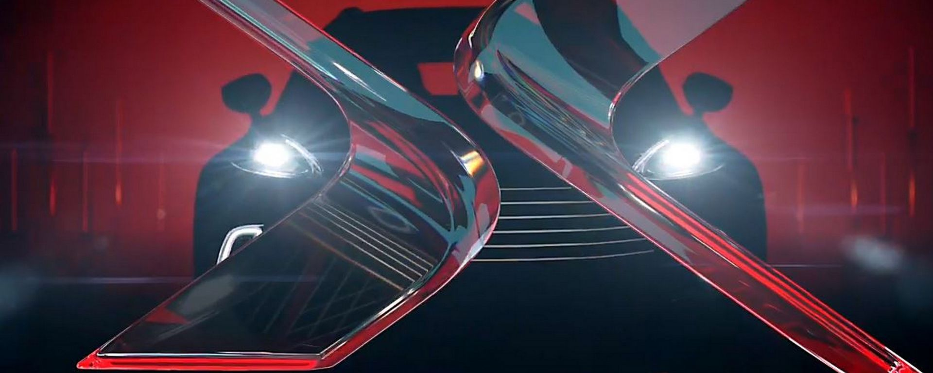 Aston Martin DBX, il teaser del frontale