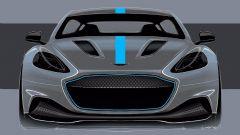 Aston Martin Rapide E: il bozzetto del frontale