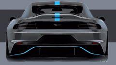Aston Martin Rapide E: il bozzetto del posteriore