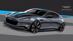 Aston Martin Rapide E: il bozzetto della nuova auto di James Bond agente 007