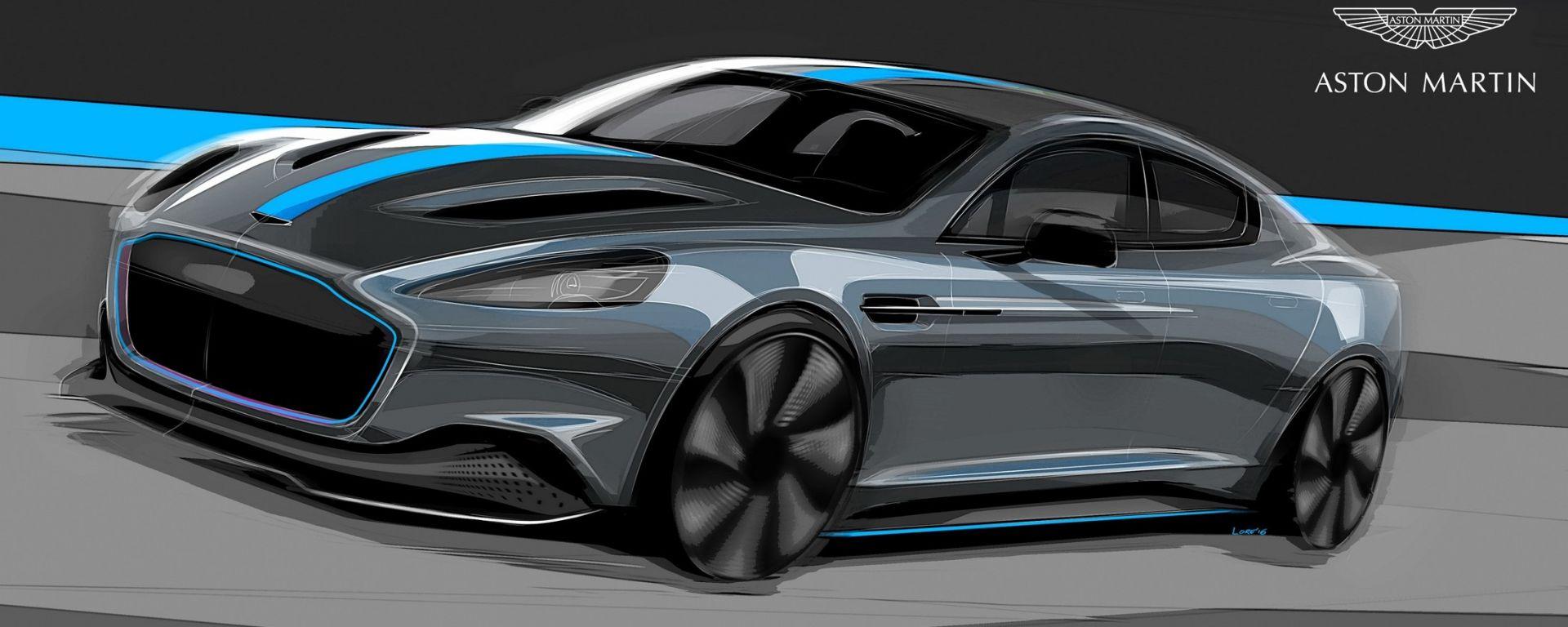 Aston Martin RapidE: l'elettrica arriva nel 2019