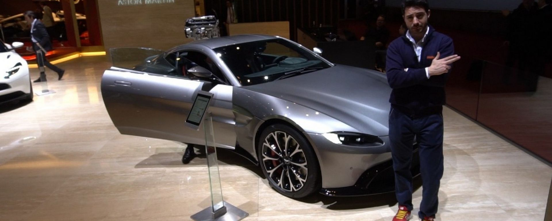 Aston Martin V8 Vantage a Ginevra 2018