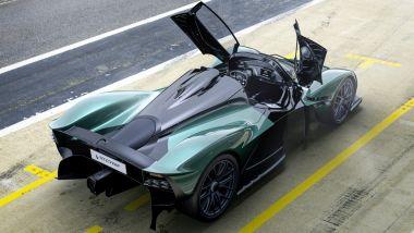 Aston Martin Valkyrie Spider, vista dall'alto