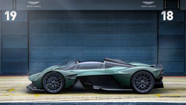 Aston Martin Valkyrie Spider, vista laterale