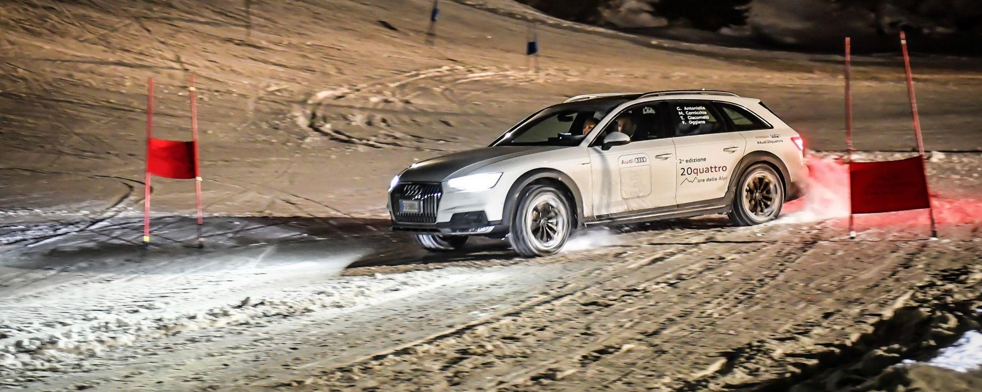 Audi 20quattro ore delle Alpi: all'arrivo a San Bernardino ci aspetta una prova speciale, uno slalom gigante. In salita però