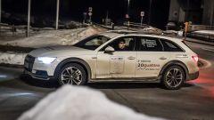 Audi 20quattro ore delle Alpi: il mio compagno di squadra in partenza per la terza tappa, fino a Madonna di Campiglio