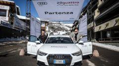 Audi 20quattro ore delle Alpi: La Audi A4 allroad quattro N.3 parte per la prima tappa, da Sestriere fino a Chamonix