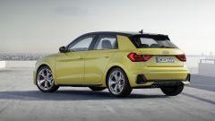 Audi 40 TFSI: ecco Audi A1 Sportback, vista di 3/4 posteriore