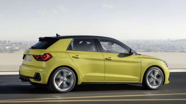 Audi 40 TFSI: ecco Audi A1 Sportback, vista laterale