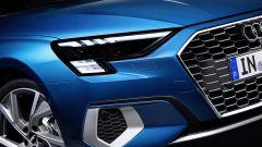 Audi A3 Sportback 2020: una vista del frontale con i fari full LED