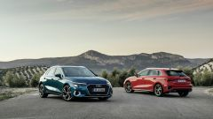 Audi A3 Sportback 2020: vista davanti e dietro