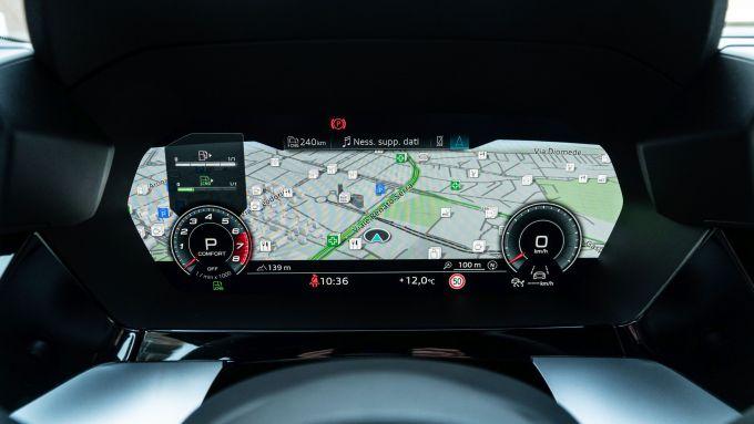 Audi A3 Sportback 30 g-tron: il cruscotto digitale