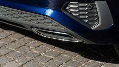 Audi A3 Sportback 30 g-tron: il doppio finto scarico cromato posteriore