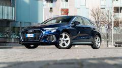Audi A3 Sportback 30 g-tron: visuale di 3/4 anteriore