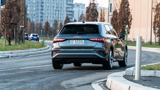 Audi A3 Sportback 40 TFSIe S Line Edition: abbastanza agile e confortevole in città