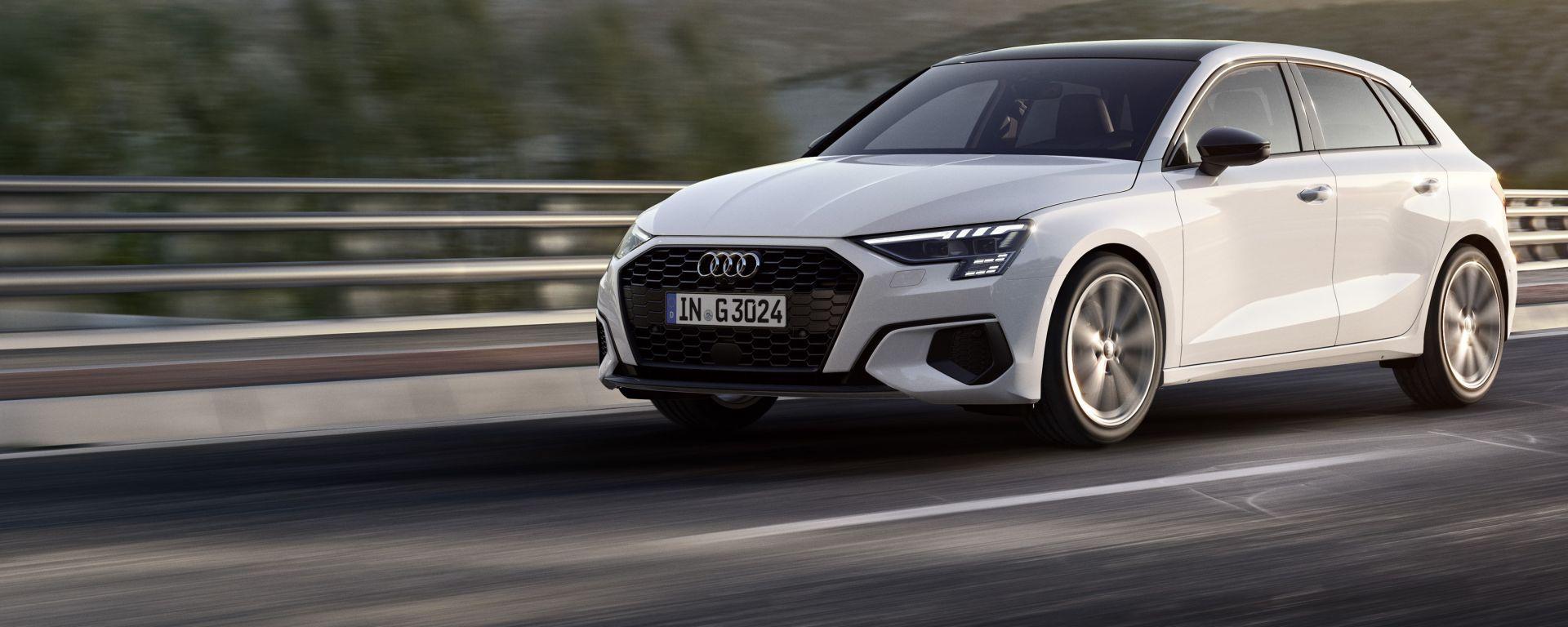 Audi A3 Sportback g-tron S tronic: col metano le percorrenze sono nell'ordine dei 30 km/kg